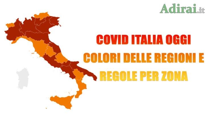 covid italia oggi colori regioni 15 marzo 2021