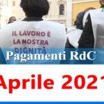 Reddito di cittadinanza pagamento Aprile 2021 ricarica RdC