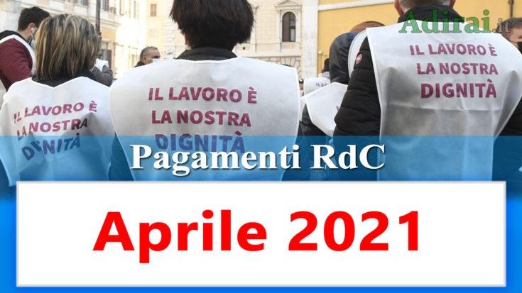 reddito di cittadinanza accredito pagamenti aprile 2021 pagamento ricarica RdC