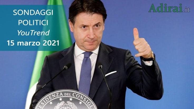 ultimi sondaggi politici 15 marzo 2021 youtrend