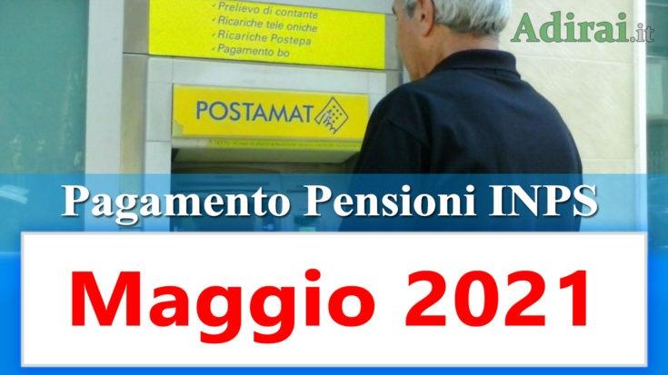 pagamento pensioni inps di maggio 2021 in anticipo in banca e in poste