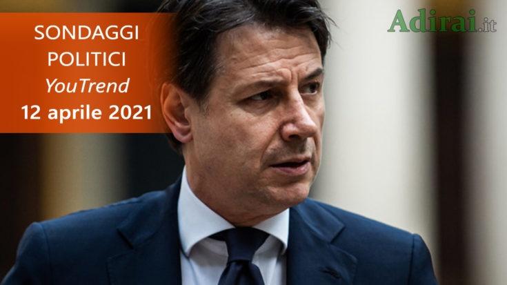 ultimi sondaggi politici 12 aprile 2021 youtrend - intenzioni di voto per tutti i partiti italiani