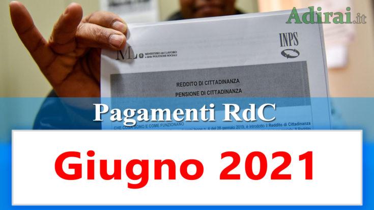 reddito di cittadinanza accredito pagamenti giugno 2021 pagamento ricarica RdC