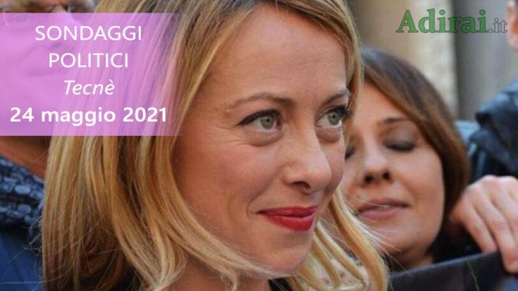 ultimi sondaggi politici 24 maggio 2021 meloni tecne - intenzioni di voto per tutti i partiti italiani