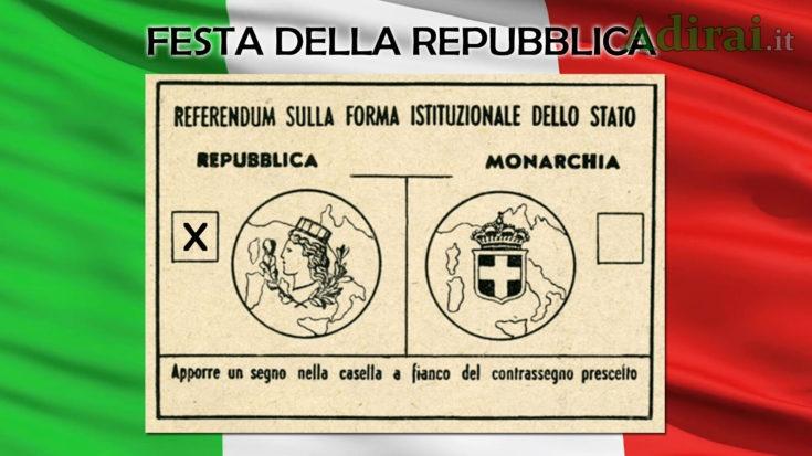 festa della repubblica italiana 2 giugno 1946 referendum italia