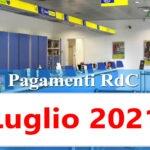 Reddito di cittadinanza pagamento Luglio 2021 ricarica RdC