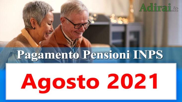 pagamento delle pensioni inps agosto 2021 in anticipo in banca e in poste
