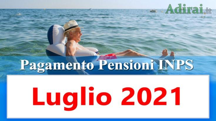 pagamento delle pensioni inps luglio 2021 in anticipo in banca e in poste
