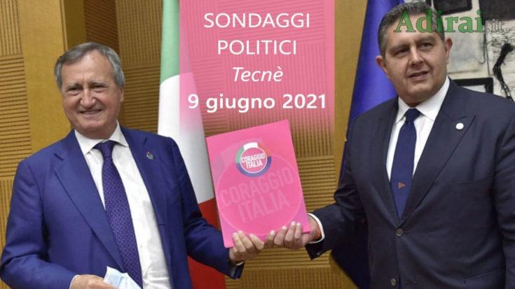 ultimi sondaggi politici 9 giugno 2021 tecne - intenzioni di voto per tutti i partiti italiani