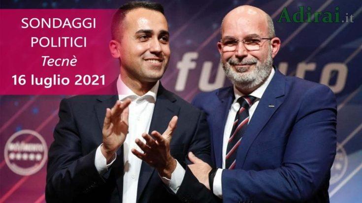 ultimi sondaggi politici 16 luglio 2021 tecne - intenzioni di voto di tutti i partiti italiani