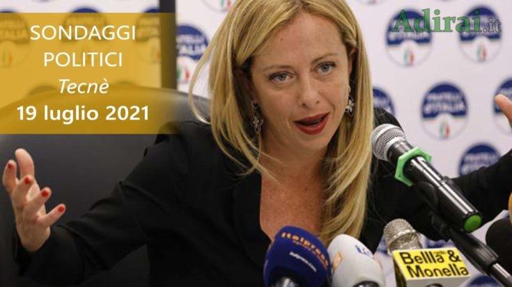 ultimi sondaggi politici 19 luglio 2021 tecne - intenzioni di voto di tutti i partiti italiani