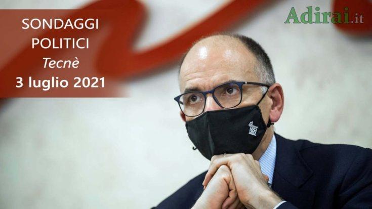 ultimi sondaggi politici 3 luglio 2021 tecne - intenzioni di voto di tutti i partiti italiani