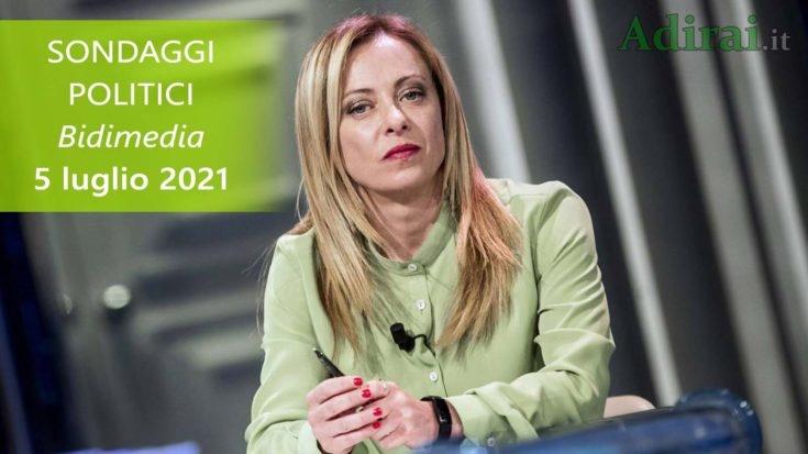 ultimi sondaggi politici 5 luglio 2021 bidimedia - intenzioni di voto di tutti i partiti italiani
