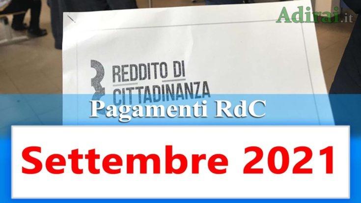 reddito di cittadinanza accredito pagamenti settembre 2021 pagamento ricarica RdC