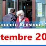Calendario pagamento pensioni Inps di settembre 2021 in anticipo data accredito