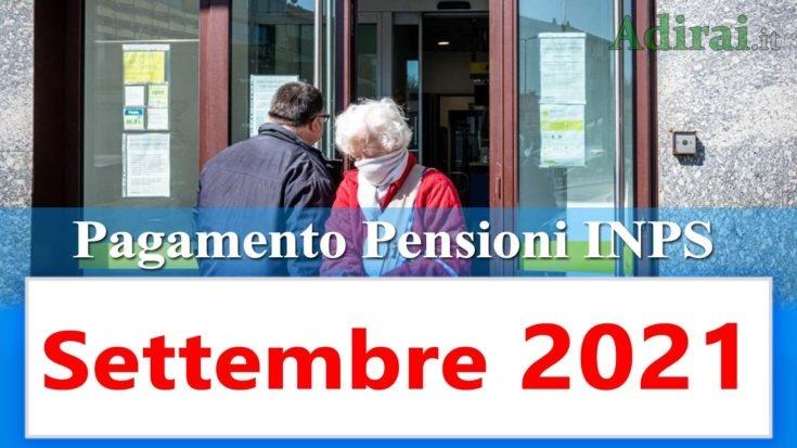 pagamento delle pensioni inps settembre 2021 in anticipo in banca e in poste