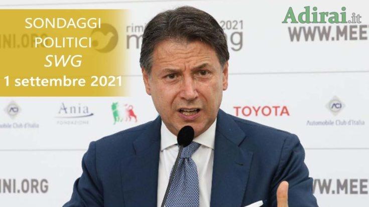 ultimi sondaggi politici 1 settembre 2021 swg - intenzioni di voto di tutti i partiti italiani